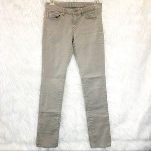🔴 UNIQLO khaki straight leg jeans